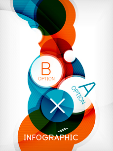 Glossy circle geometric shape info graphic background. For business presentation | technology | webのイラスト素材 [FYI03097890]