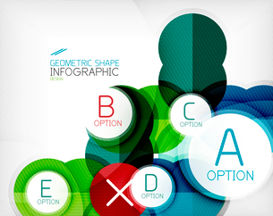 Glossy circle geometric shape info graphic background. For business presentation | technology | webのイラスト素材 [FYI03097893]