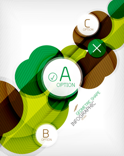 Glossy circle geometric shape info graphic background. For business presentation | technology | webのイラスト素材 [FYI03097903]