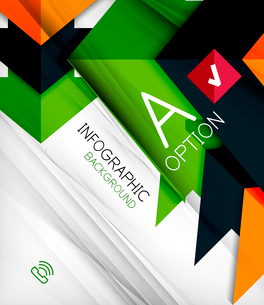 Infographic abstract background - arrow geometric shape. For business presentation   technology   weのイラスト素材 [FYI03097907]