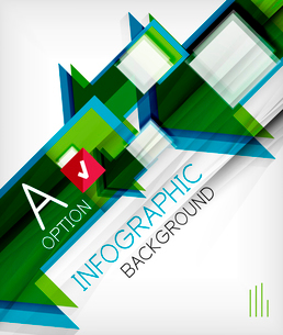 Infographic abstract background - arrow geometric shape. For business presentation   technology   weのイラスト素材 [FYI03097908]