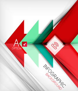 Infographic abstract background - arrow geometric shape. For business presentation   technology   weのイラスト素材 [FYI03097910]