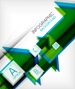 Infographic abstract background - arrow geometric shape. For business presentation | technology | weのイラスト素材 [FYI03097911]