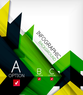 Infographic abstract background - arrow geometric shape. For business presentation | technology | weのイラスト素材 [FYI03097912]