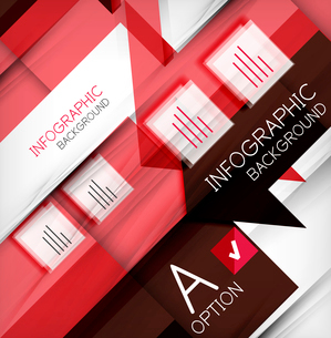 Infographic abstract background - arrow geometric shape. For business presentation   technology   weのイラスト素材 [FYI03097914]