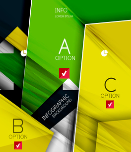 Infographic abstract background - arrow geometric shape. For business presentation | technology | weのイラスト素材 [FYI03097915]