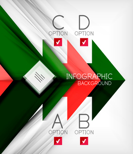 Infographic abstract background - arrow geometric shape. For business presentation | technology | weのイラスト素材 [FYI03097916]