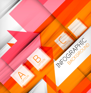 Infographic abstract background - arrow geometric shape. For business presentation | technology | weのイラスト素材 [FYI03097917]