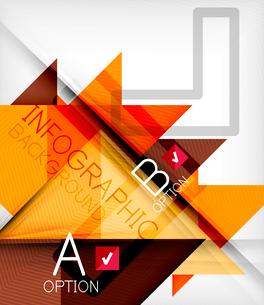 Triangle geometric shape infographic backgroundのイラスト素材 [FYI03097918]