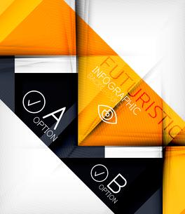 Triangle geometric shape infographic backgroundのイラスト素材 [FYI03097919]