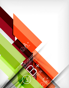Business presentation stripes abstract background. For infographics, business backgrounds, technologのイラスト素材 [FYI03097934]