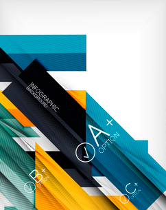 Business presentation stripes abstract background. For infographics, business backgrounds, technologのイラスト素材 [FYI03097937]
