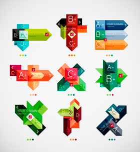 Colorful abstract option banner templates setのイラスト素材 [FYI03097948]