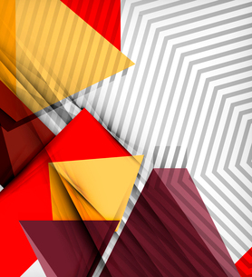 Geometrical vector abstract background. For infographics, business backgrounds, technology templatesのイラスト素材 [FYI03097973]