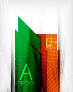 Infographic geometrical shape abstract background. For infographics, business backgrounds, technologのイラスト素材 [FYI03098007]