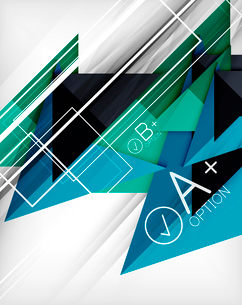 Infographic geometrical shape abstract background. For infographics, business backgrounds, technologのイラスト素材 [FYI03098053]