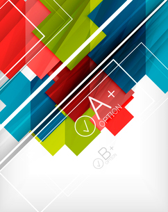 Infographic geometrical shape abstract background. For infographics, business backgrounds, technologのイラスト素材 [FYI03098060]