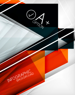 Infographic geometrical shape abstract background. For infographics, business backgrounds, technologのイラスト素材 [FYI03098061]