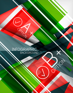 Infographic geometrical shape abstract background. For infographics, business backgrounds, technologのイラスト素材 [FYI03098062]