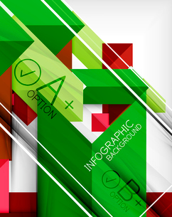 Infographic geometrical shape abstract background. For infographics, business backgrounds, technologのイラスト素材 [FYI03098068]