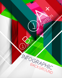 Infographic geometrical shape abstract background. For infographics, business backgrounds, technologのイラスト素材 [FYI03098077]