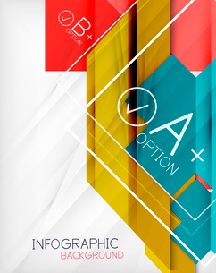 Infographic geometrical shape abstract background. For infographics, business backgrounds, technologのイラスト素材 [FYI03098079]