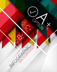 Infographic geometrical shape abstract background. For infographics, business backgrounds, technologのイラスト素材 [FYI03098080]