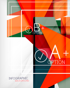 Infographic geometrical shape abstract background. For infographics, business backgrounds, technologのイラスト素材 [FYI03098081]
