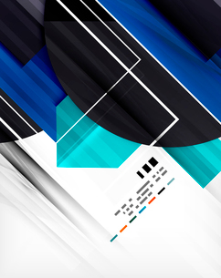 Futuristic geometric shape abstract business template For banners, business backgrounds, presentatioのイラスト素材 [FYI03098097]