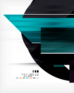 Futuristic geometric shape abstract business template For banners, business backgrounds, presentatioのイラスト素材 [FYI03098109]