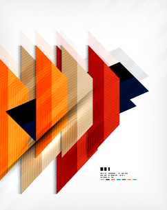 Geometric abstraction business poster. For banners, business backgrounds, presentationsのイラスト素材 [FYI03098119]