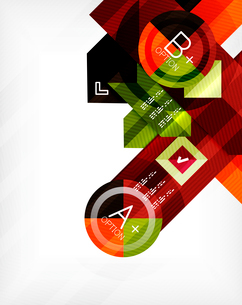 Business geometric infographic option banner. For banners, business backgrounds, presentationsのイラスト素材 [FYI03098123]