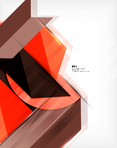 Geometric abstraction business poster. For banners, business backgrounds, presentationsのイラスト素材 [FYI03098125]