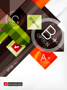 Business geometric infographic option banner. For banners, business backgrounds, presentationsのイラスト素材 [FYI03098128]