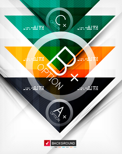 Business geometric infographic poster. Paper geometric shapes with options and space for text. Can bのイラスト素材 [FYI03098143]