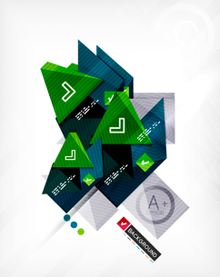 Futuristic abstract 3d infographic composition. Paper geometric shapes with options and space for teのイラスト素材 [FYI03098156]