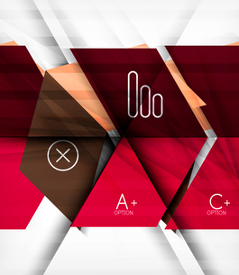 Futuristic blocks geometric abstract background with infographic optionsのイラスト素材 [FYI03098215]