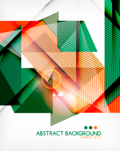 Triangle geometric shape abstract background. Bright abstractionのイラスト素材 [FYI03098238]