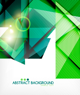 Triangle geometric shape abstract background. Bright abstractionのイラスト素材 [FYI03098242]