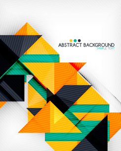 Triangle geometric shape abstract background. Bright abstractionのイラスト素材 [FYI03098243]