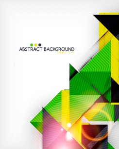 Triangle geometric shape abstract background. Bright abstractionのイラスト素材 [FYI03098244]