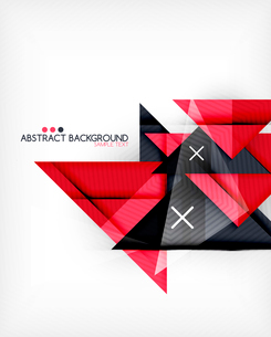 Triangle geometric shape abstract background. Bright abstractionのイラスト素材 [FYI03098245]