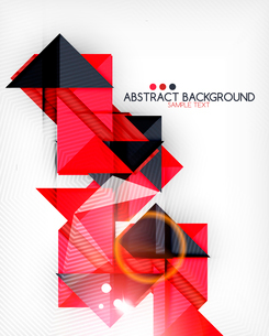 Triangle geometric shape abstract background. Bright abstractionのイラスト素材 [FYI03098246]