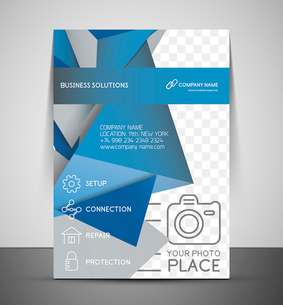 CMYK Business Corporate Flyer Template | Geometrical Designのイラスト素材 [FYI03098258]