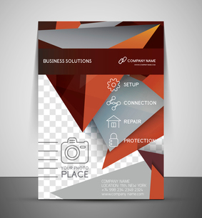 CMYK Business Corporate Flyer Template | Geometrical Designのイラスト素材 [FYI03098267]