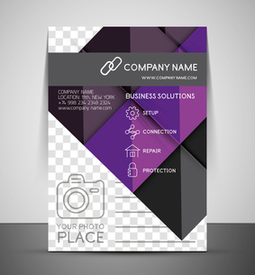 CMYK Business Corporate Flyer Template | Geometrical Designのイラスト素材 [FYI03098275]