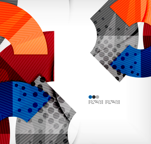Modern futuristic techno abstract composition, overlapping shapesのイラスト素材 [FYI03098360]