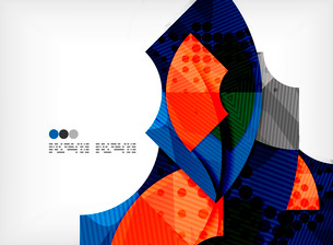 Modern futuristic techno abstract composition, overlapping shapesのイラスト素材 [FYI03098361]