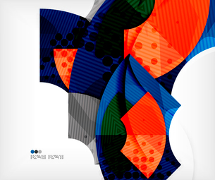 Modern futuristic techno abstract composition, overlapping shapesのイラスト素材 [FYI03098362]
