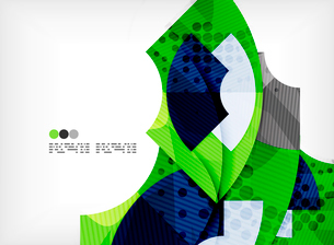 Modern futuristic techno abstract composition, overlapping shapesのイラスト素材 [FYI03098363]